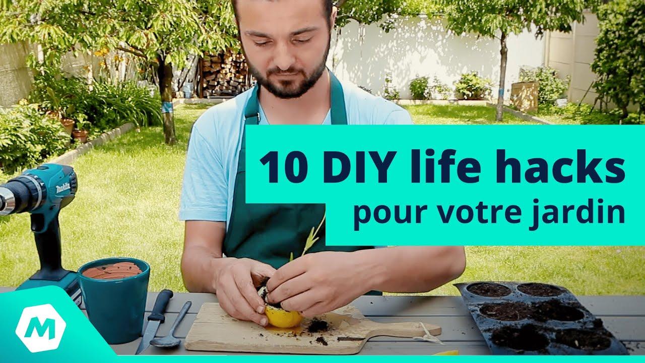 astuces jardinage 10 diy life hacks pour votre jardin. Black Bedroom Furniture Sets. Home Design Ideas