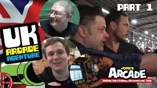 UK ARCADE ADVENTURE - PART 1 - Play Expo Manchester 2017 Retro Games Party Tour