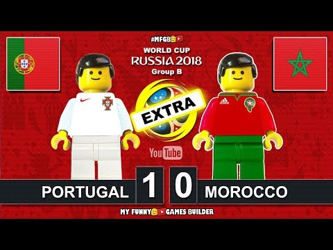 Portugal vs Morocco 1-0 • World Cup 2018 (20/06/2018) All Goals Highlights Lego Football