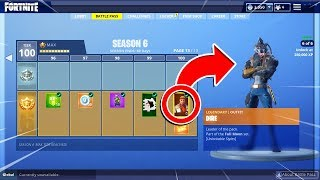 *NEW* SEASON 6 BATTLE PASS TIER 100 UNLOCKED! - Fortnite Battle Royale