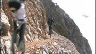 Extreme Einrad-Abfahrt Zugspitze