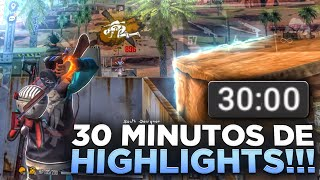 30 MINUTOS DE HIGHLIGHTS EM CAMPS GRANDES ! 🙏🏾❤️ Free Fire iPhone 8 Plus