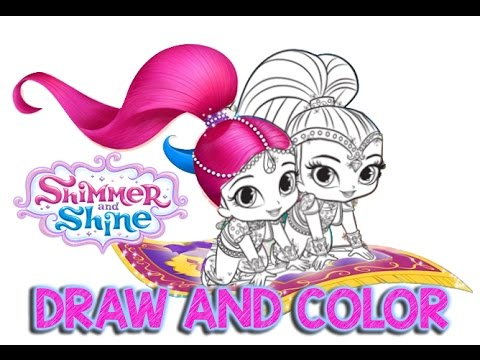 Shimmer And Shine Color Episode How To Draw
