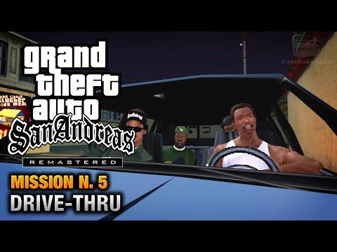 GTA San Andreas Remastered - Mission #5 - Drive-thru (Xbox 360 / PS3)