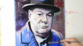 Painting Sir Winston Churchill