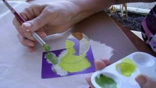 Decoración sobre  tela, pintado de motivos en tela