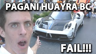 PAGANI HUAYRA BC START UP FAIL + REVVING (ONLY 20 TO BE MADE, ONLY ONE IN NORTH AMERICA)