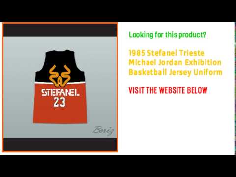 1985 Stefanel Trieste Michael Jordan Exhibition Basketball Custom Jersey Uniform