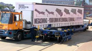 Megaswing - Load a Semitrailer on a railway wagon