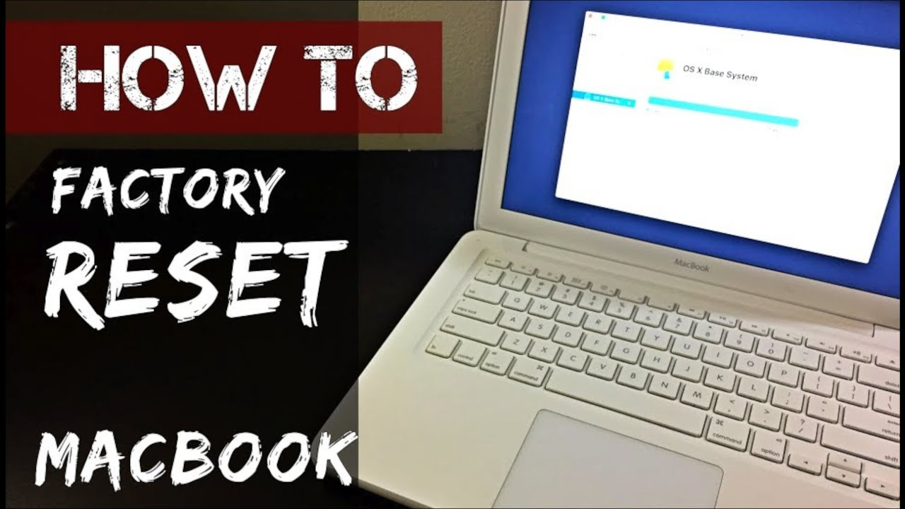 How To Factory Reset White Apple Macbook Works In 2020 Youtube