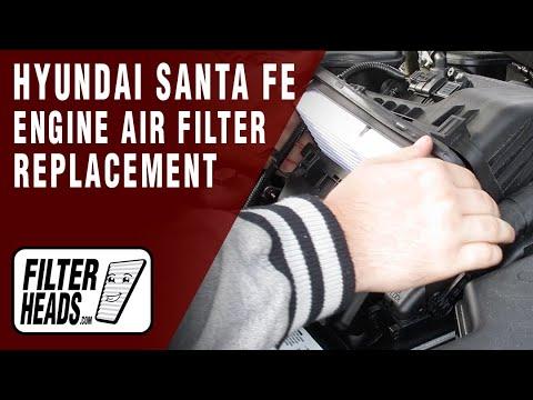 how-to-replace-engine-air-filter-2010-2013-hyundai-santa-fe-l4-2.4l