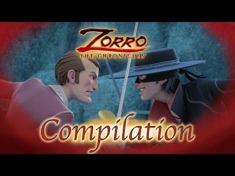 1 Heure COMPILATION | Les Chroniques de Zorro | Episode 22 - 24 | Dessin de super-héros