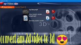 How to convert 2d video to 3d ! Convert any 2d video to 3d in android!! In hindi
