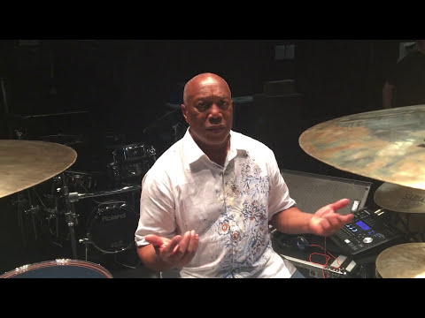 Billy Cobham - tuning, talking & playing drums