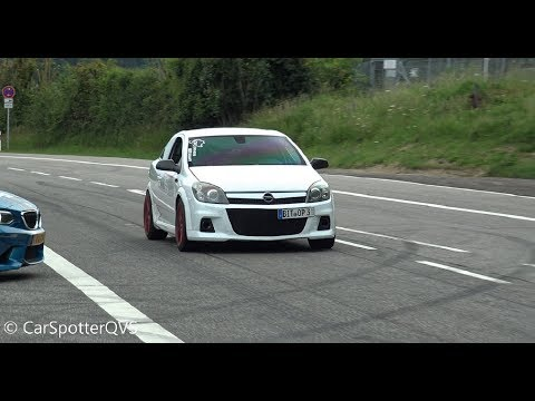 Opel Astra OPC 2.0 Turbo 350+ Hp - Start Up, Revs. Flames And EPIC Accelerations!!