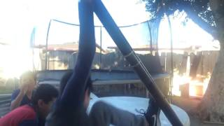 Stripping on basketball pole | Luis Salcedo