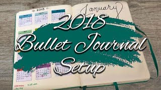 Bullet Journal Set Up January 2018