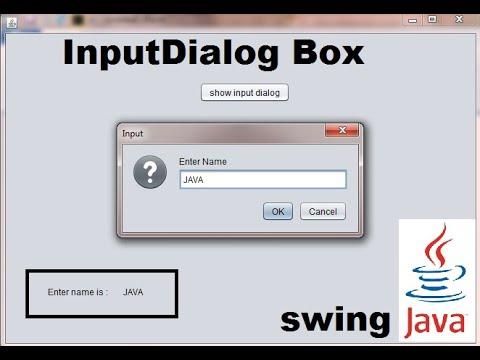 InputDialog Box (Input Popup) in JAVA SWING GUI Program