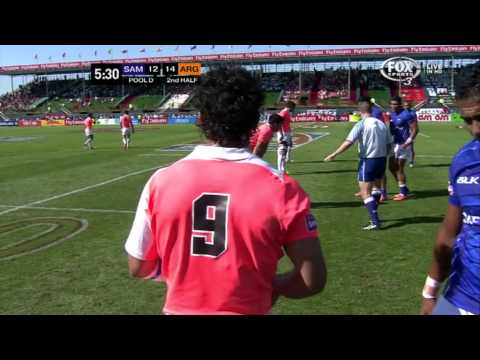 Argentina vs Samoa - World Series 7s 2013/14 - M10 Pool D - Dubai