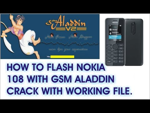 how to flash nokia 108 rm-944 with gsm aladdin crack with working flash file