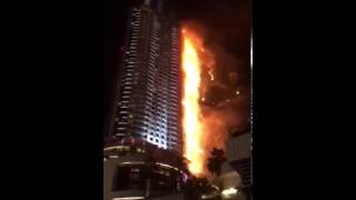 Fire at Hotel The Address Downtown Dubai 2016