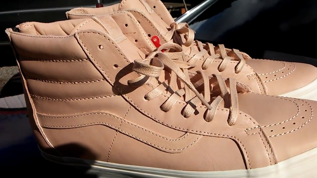 38e5362404 Vans Veggie Tan SK8-Hi Zip Vechetta leather Review Onfoot - YouTube