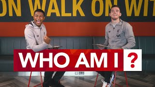 'I'm amazing at this game!' | Robertson & Brewster play 'Who Am I?' with their Liverpool teammates