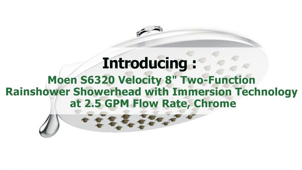 moen s6320 velocity 8 two function rainshower showerhead
