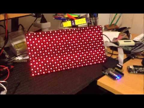 32x16 White Dot Matrix Display | Freetronics