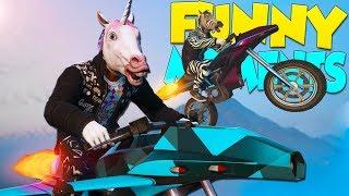GTA 5 Funny Moments - Bunker Tour, Rocket Bikes, Mobile Command Center! (Gunrunning DLC)