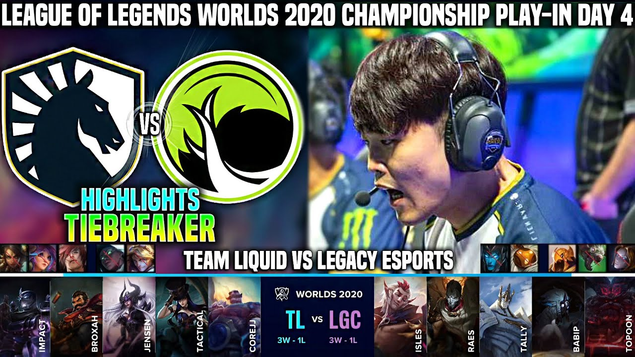 TL vs LGC Highlights TIEBREAKER Worlds 2020 Play-In Day 4 - TEAM LIQUID vs LEGACY ESPORTS Highlights