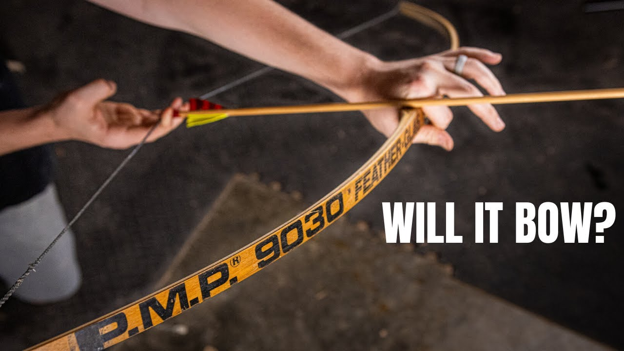 """Making A bow Out Of A Wooden Hockey Stick """"WILL IT BOW"""" Ep. 6"""