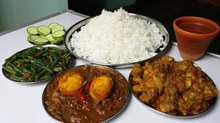 duck kasha and egg curry with basmati rice good food to eat