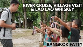 Laos Travel Vlog #2: Mekong Boat Cruise, Village Visit, and Local Rice Whiskey