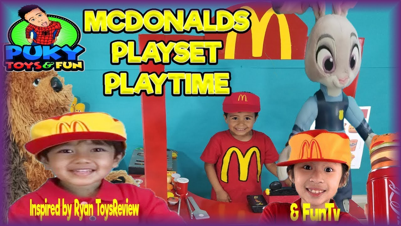 McDonalds awesome Pretend Playset Kitchen fun with Judy Hopps and ...