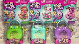 Lil Secrets Locket Playsets Ice Cream Shop Dance Studio Smoothie Shopkins Toy Unboxing Review