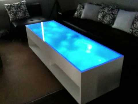 blue led coffee table youtube. Black Bedroom Furniture Sets. Home Design Ideas