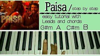 Paisa - Super 30 - Easy Piano Tutorial | Hrithik Roshan & Mrunal Thakur | Vishal Dadlani | Ajay Atul