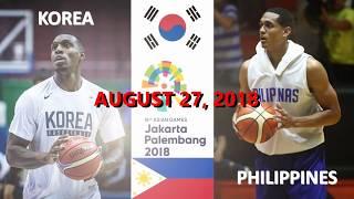 2018 Asian Games [Philippines vs Korea] Korean line up
