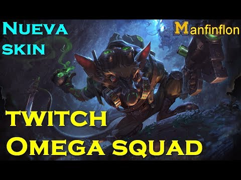 Nueva skin twitch Omega Squad | Twitch vs Caitlyn s7 | Servidor PBE