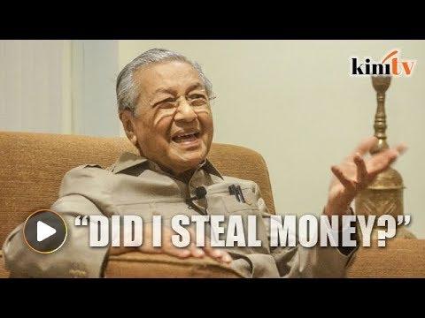 Mahathir: Did I steal money, am I MO1?