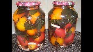 Рецепт маринованных помидоров с базиликом и чесноком I Заготовки