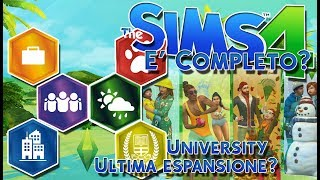 the sims 4 e completo?university ultima espansione?