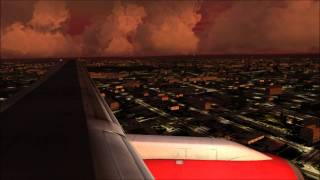 Landing - Heathrow At Dusk FSX 757 (HD)