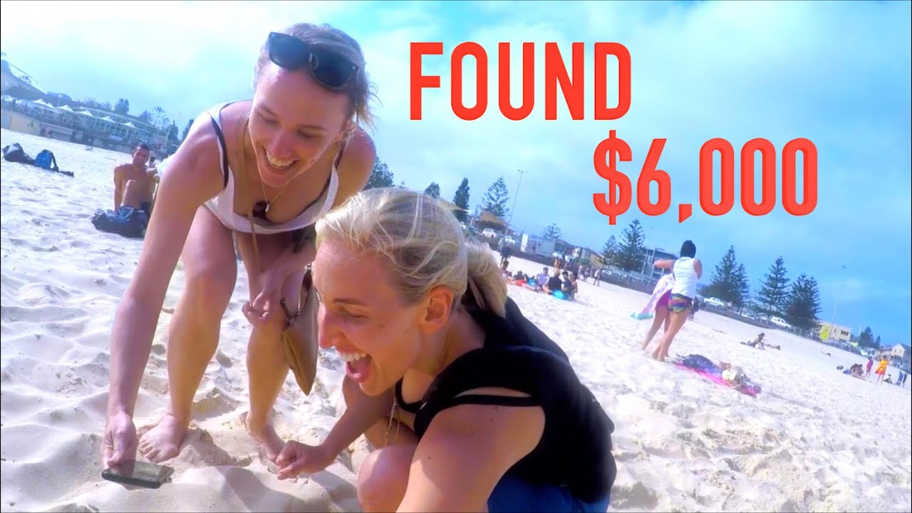NUDE BEACH Metal Detecting Found $6,000 with LUCKY LADIES!! *Gold Treasure*