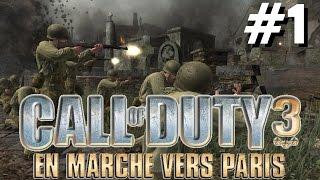 VGA Call of duty 3 en marche vers Paris playthrough activision ps3 ps2 xbox 360 wii 2006 HD part 1