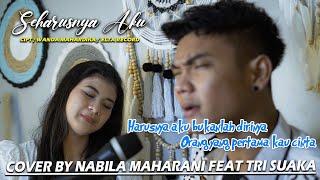 Seharusnya Aku Cipt Wanda Mahardika Elta Record Cover By Nabila Maharani Feat Tri Suaka MP3