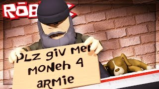 BEING HOMELESS IN ROBLOX!