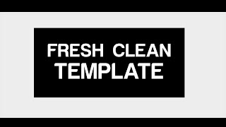 Fresh Clean 2D Free Intro Template! by Prawn.