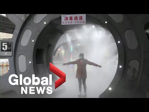 Coronavirus outbreak: Local report says disinfecting system in China cleans workers in 20 seconds